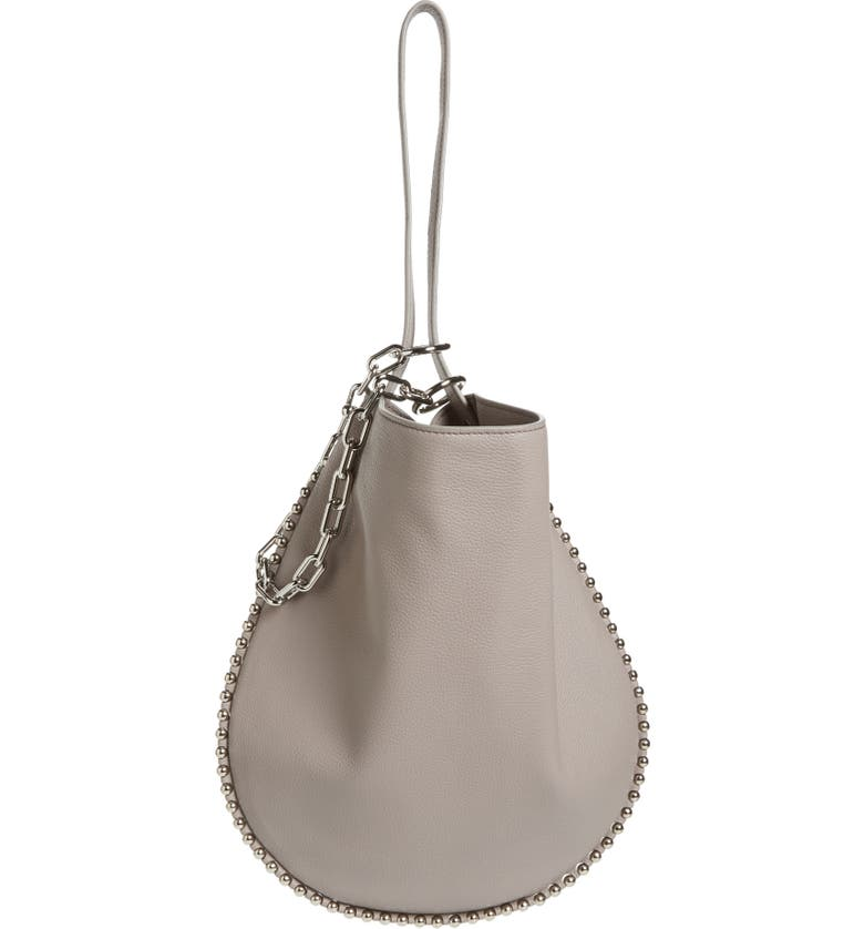ALEXANDER WANG Roxy Studded Leather Hobo Bag, Main, color, 020