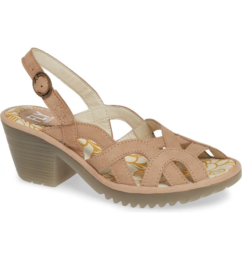 FLY LONDON Weza Sandal, Main, color, BEIGE LEATHER