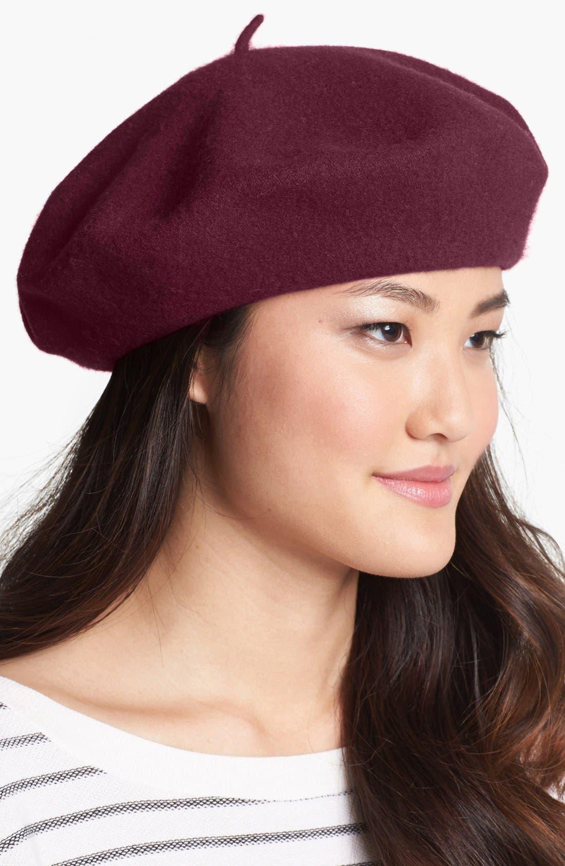 ,                             'Basic' Wool Beret,                             Main thumbnail 13, color,                             601