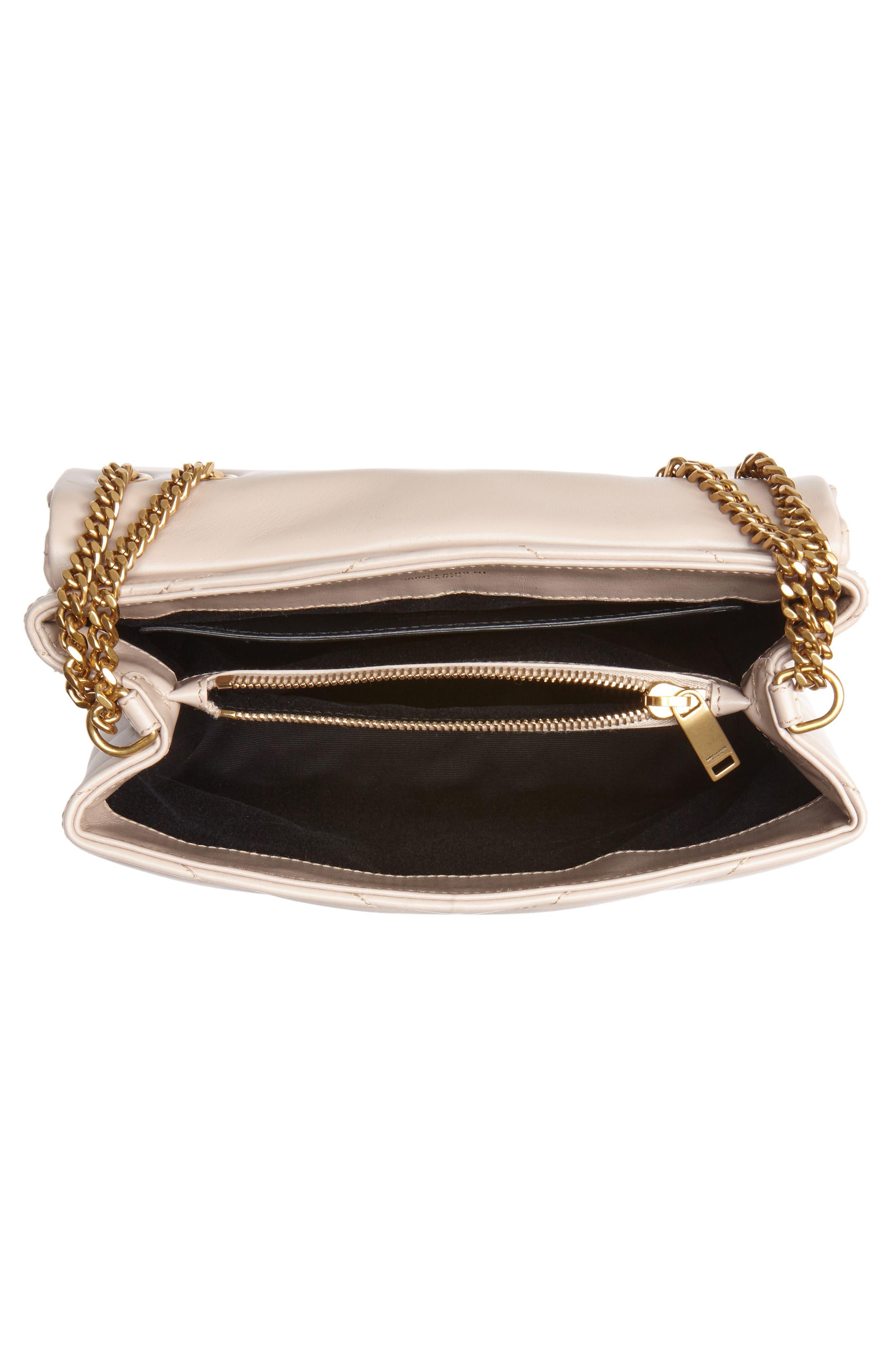 ,                             Small Loulou Leather Shoulder Bag,                             Alternate thumbnail 9, color,                             250