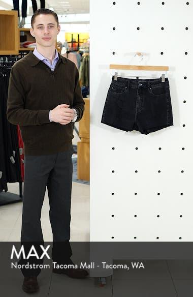 High Waist Distressed Denim Mom Shorts, sales video thumbnail