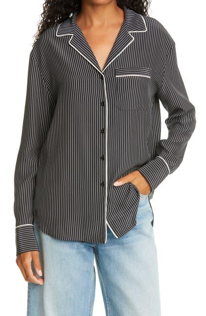 Image of Rag & Bone Luca Silk Pajama Top