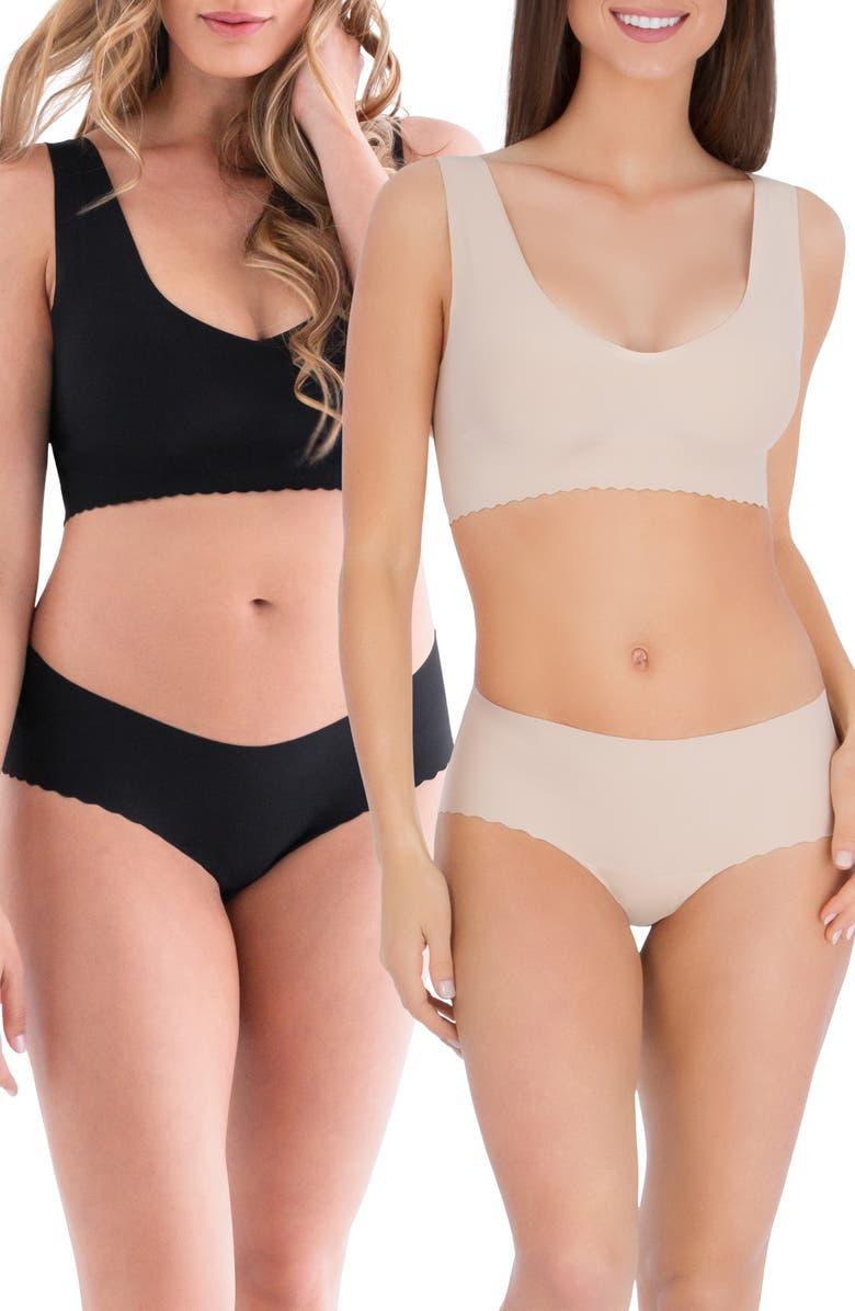 BELLY BANDIT<SUP>®</SUP> Anti Panti<sup>®</sup> 2-Pack Panties, Main, color, NUDE/ BLACK
