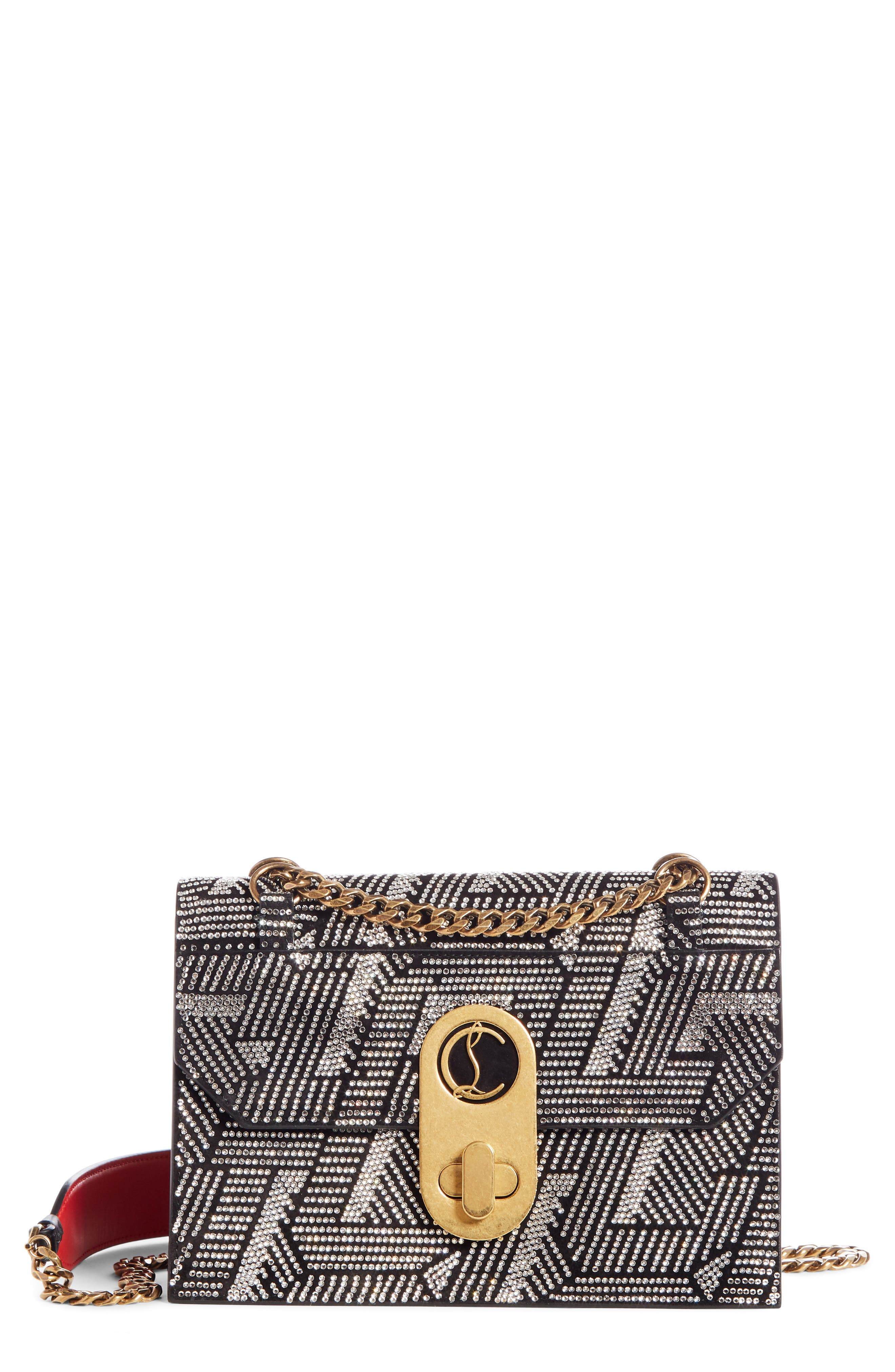 Christian Louboutin Small Elisa Embellished Leather Crossbody Bag   Nordstrom