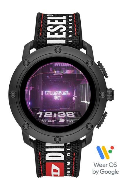 Image of Diesel Men's Axial Woven Strap Smartwatch, 48mm