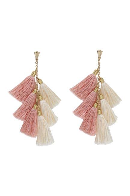 Image of Ettika 18K Gold Plated Tassel Earrings
