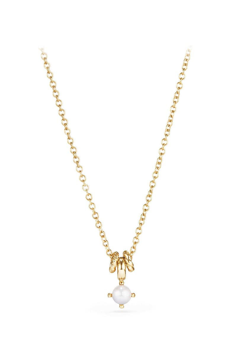 DAVID YURMAN Cable Collectibles<sup>®</sup> Kids' Birthstone Necklace in 18K Gold, Main, color, PEARL