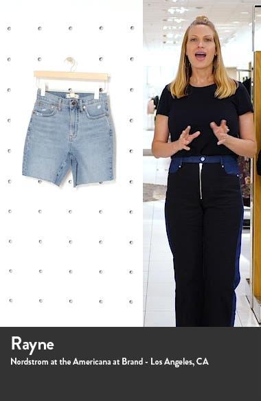 Tencel<sup>®</sup> Lyocell Edition High Waist Mid-Length Denim Shorts, sales video thumbnail