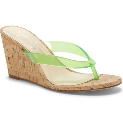 Jessica Simpson Coyrie Wedge Flip Flop, Green