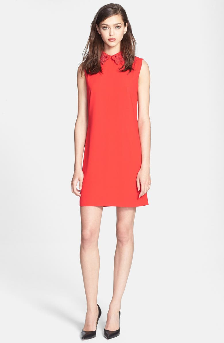 TED BAKER LONDON Embellished Woven Tunic Dress, Main, color, 610