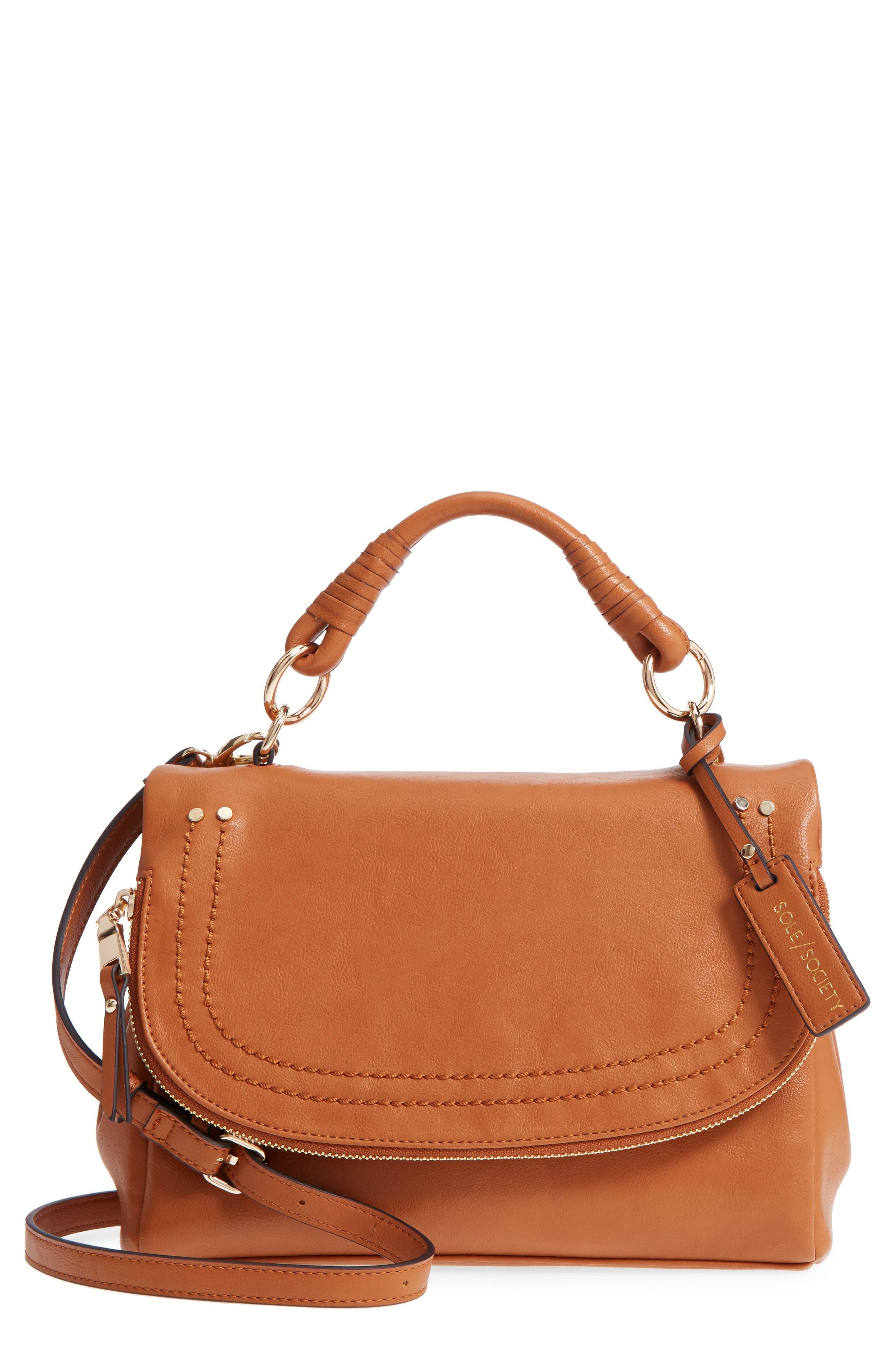 ,                             Top Handle Faux Leather Crossbody Bag,                             Main thumbnail 7, color,                             230