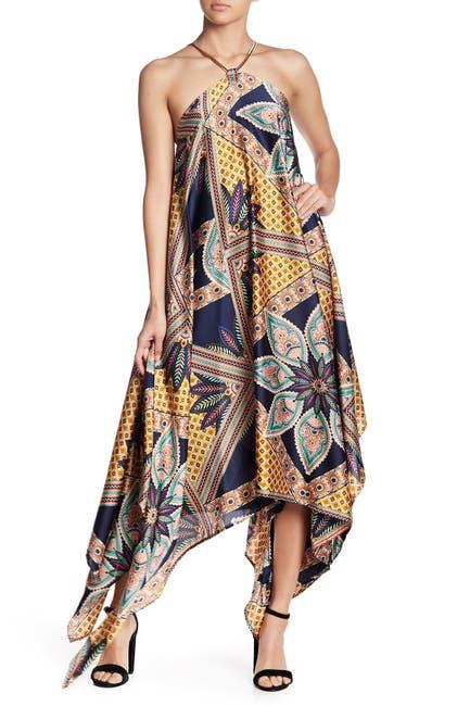 Image of Gracia Printed Handkerchief Dress