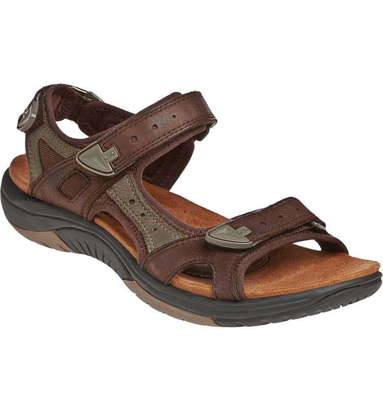 ROCKPORT COBB HILL Fiona Sandal, Main, color, BROWN LEATHER