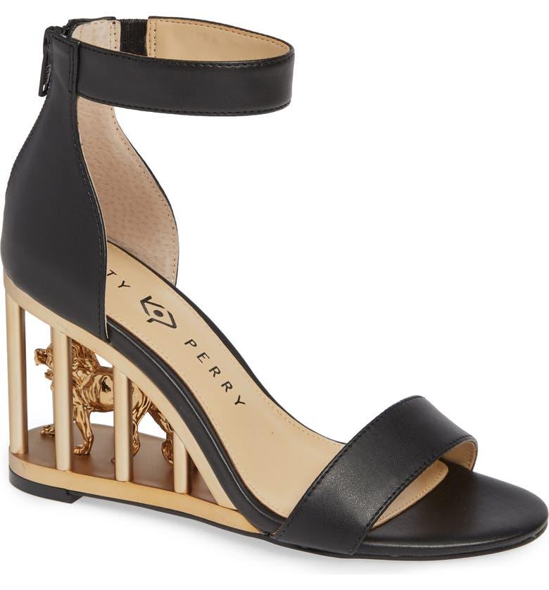 KATY PERRY Wedge Sandal, Main, color, BLACK