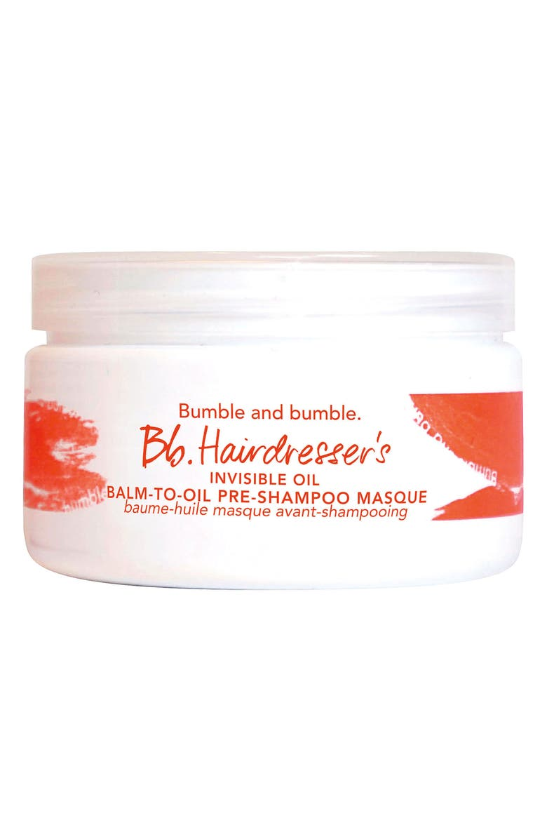 BUMBLE AND BUMBLE. Hairdresser's Invisible Oil Balm-to-Oil Pre-Shampoo Masque, Main, color, NO COLOR