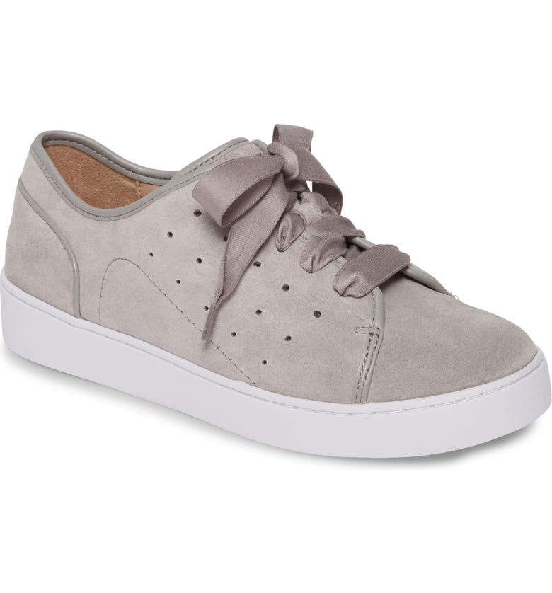 VIONIC Keke Sneaker, Main, color, LIGHT GREY SUEDE
