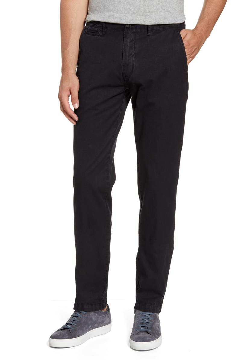 BILLY REID Straight Leg Pima Cotton Chinos, Main, color, 001