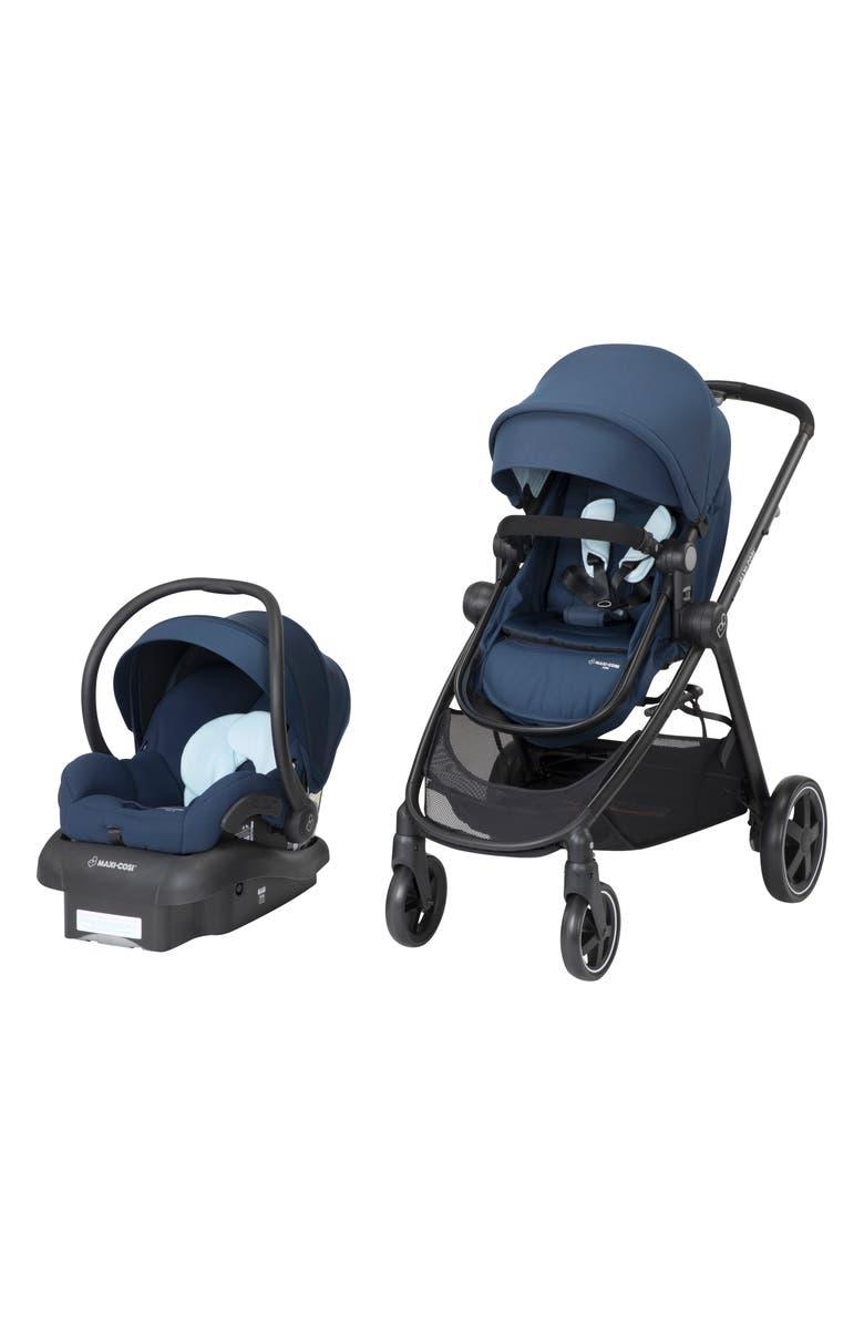 MAXI-COSI<SUP>®</SUP> 5-1 Mico 30 Infant Car Seat & Zelia Stroller Modular Travel System, Main, color, ADVENTURINE BLUE