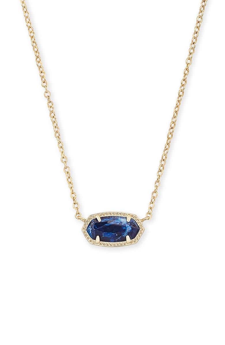 KENDRA SCOTT Elisa Pendant Necklace, Main, color, GOLD COBALT HOWLITE