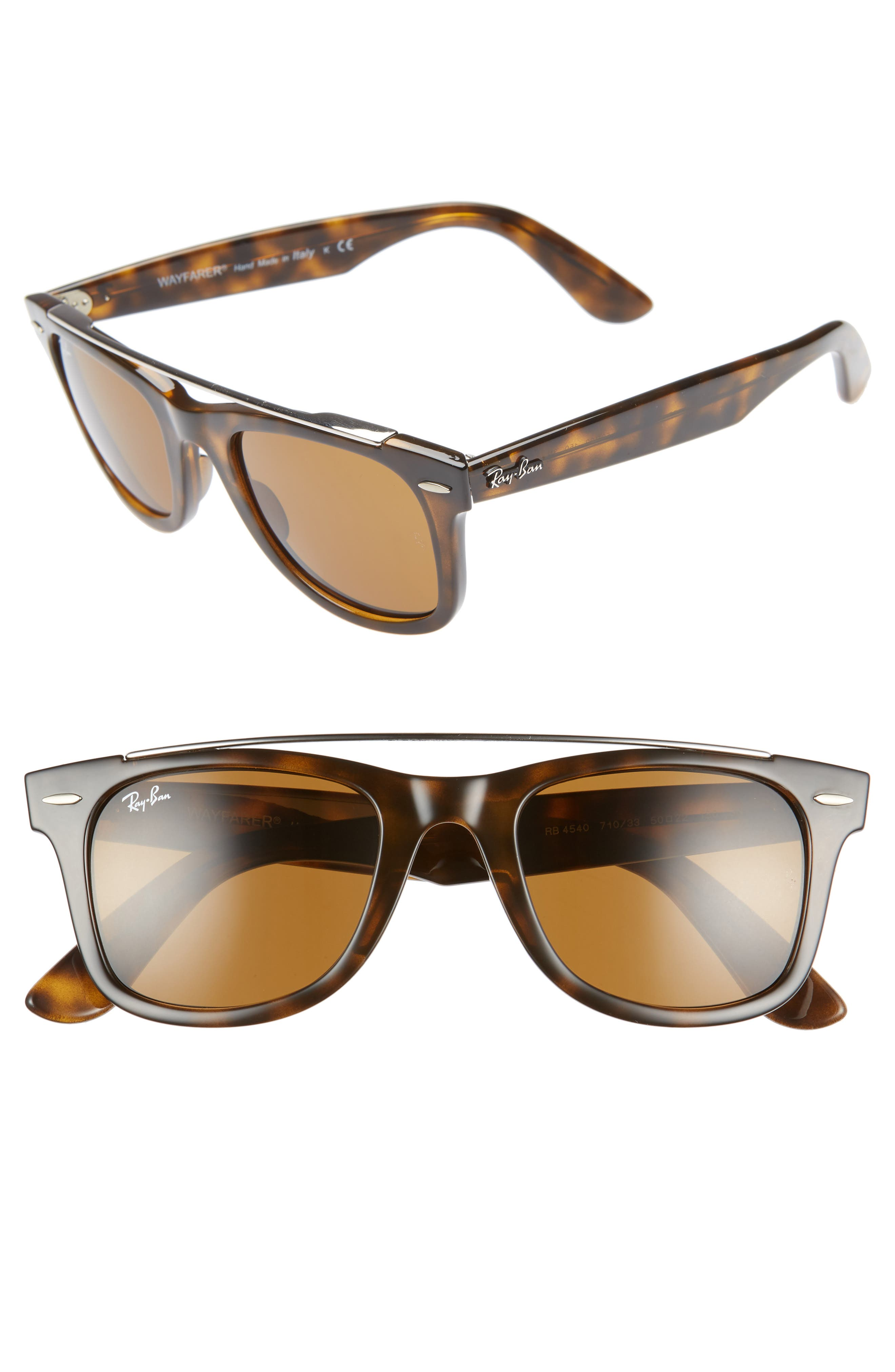 Ray-Ban 50Mm Wayfarer Sunglasses - Havana Solid