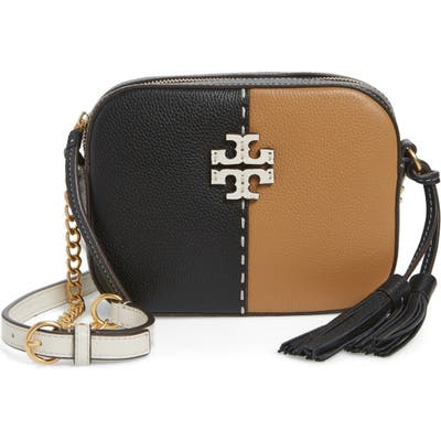Tory Burch Mcgraw Colorblock Leather Camera Bag - Black