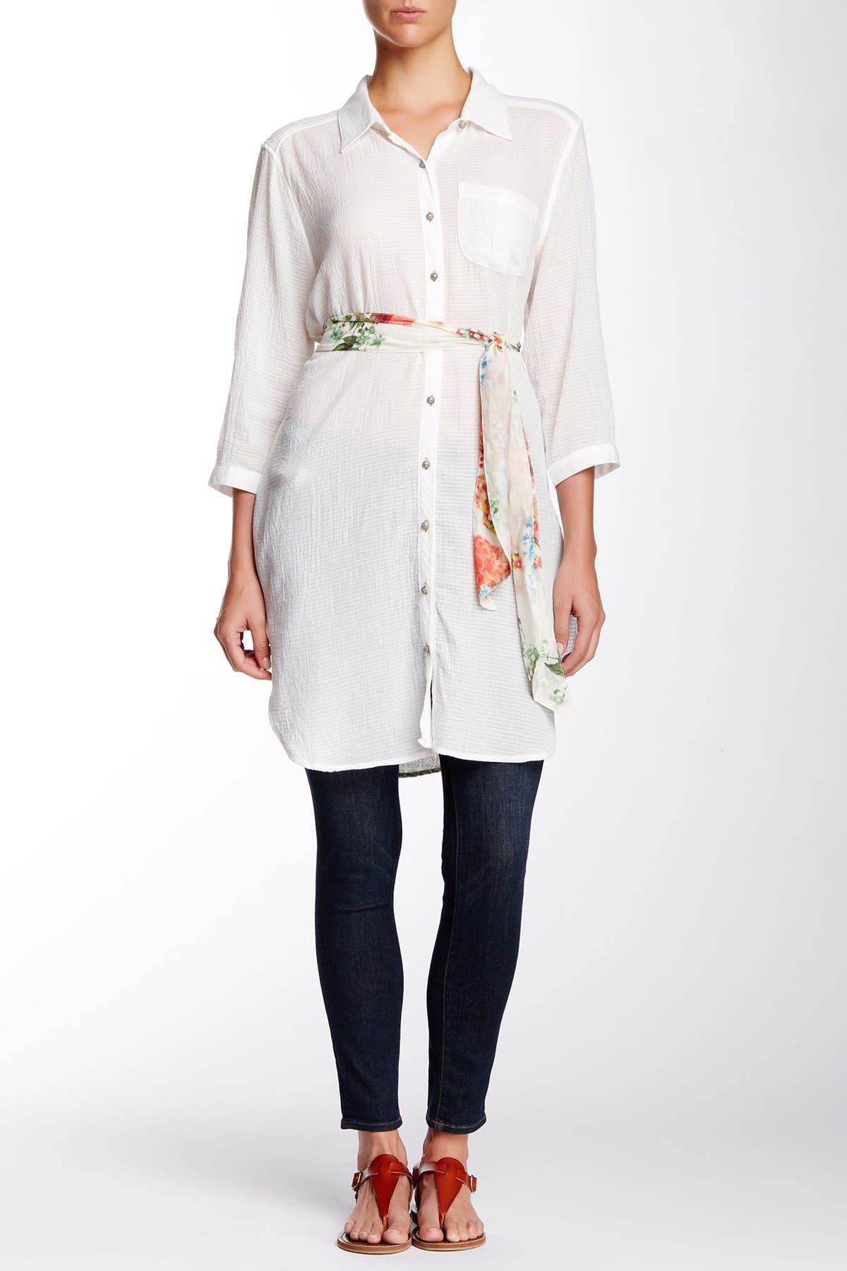 Image of ARATTA Knit Print Woven Tunic