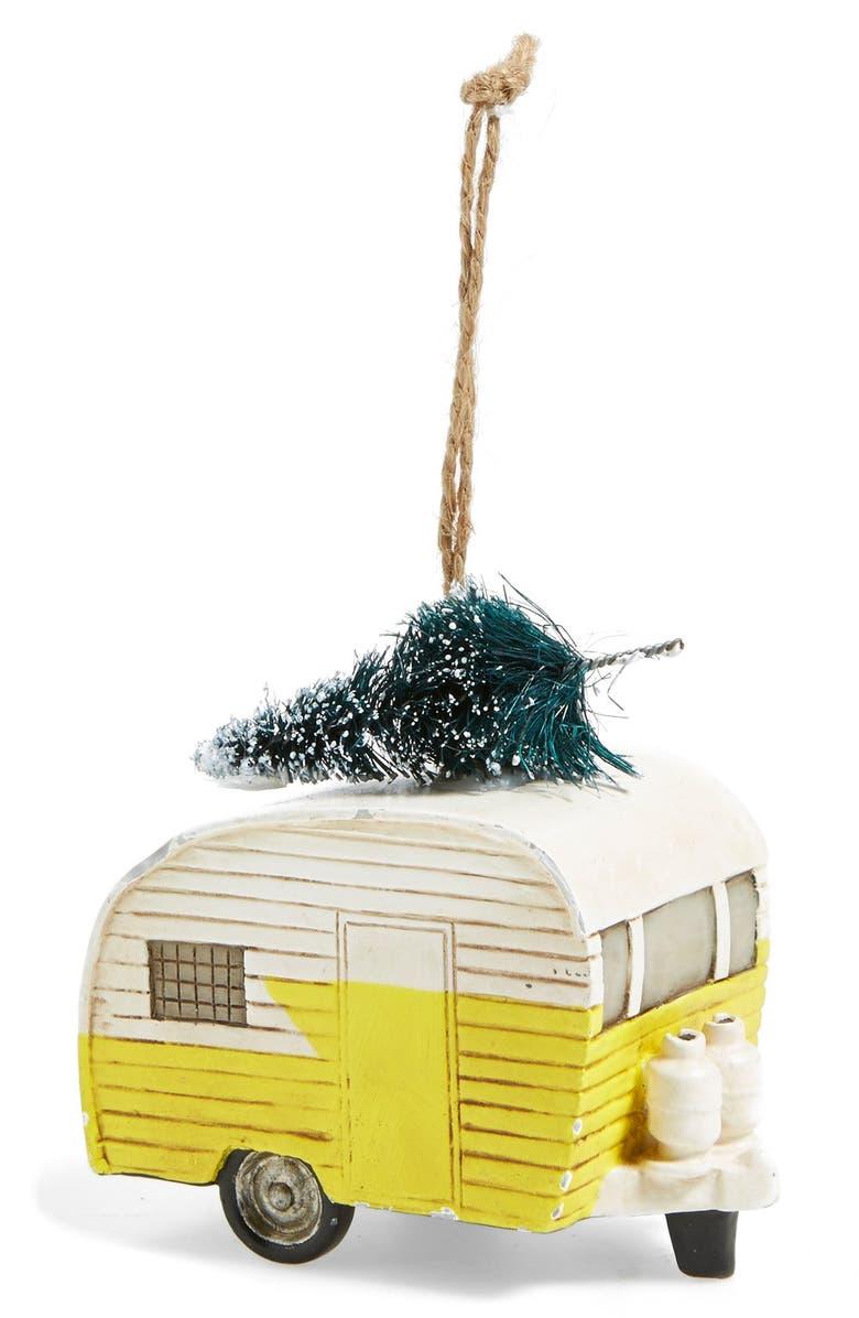 CREATIVE CO-OP Trailer Ornament, Main, color, 700
