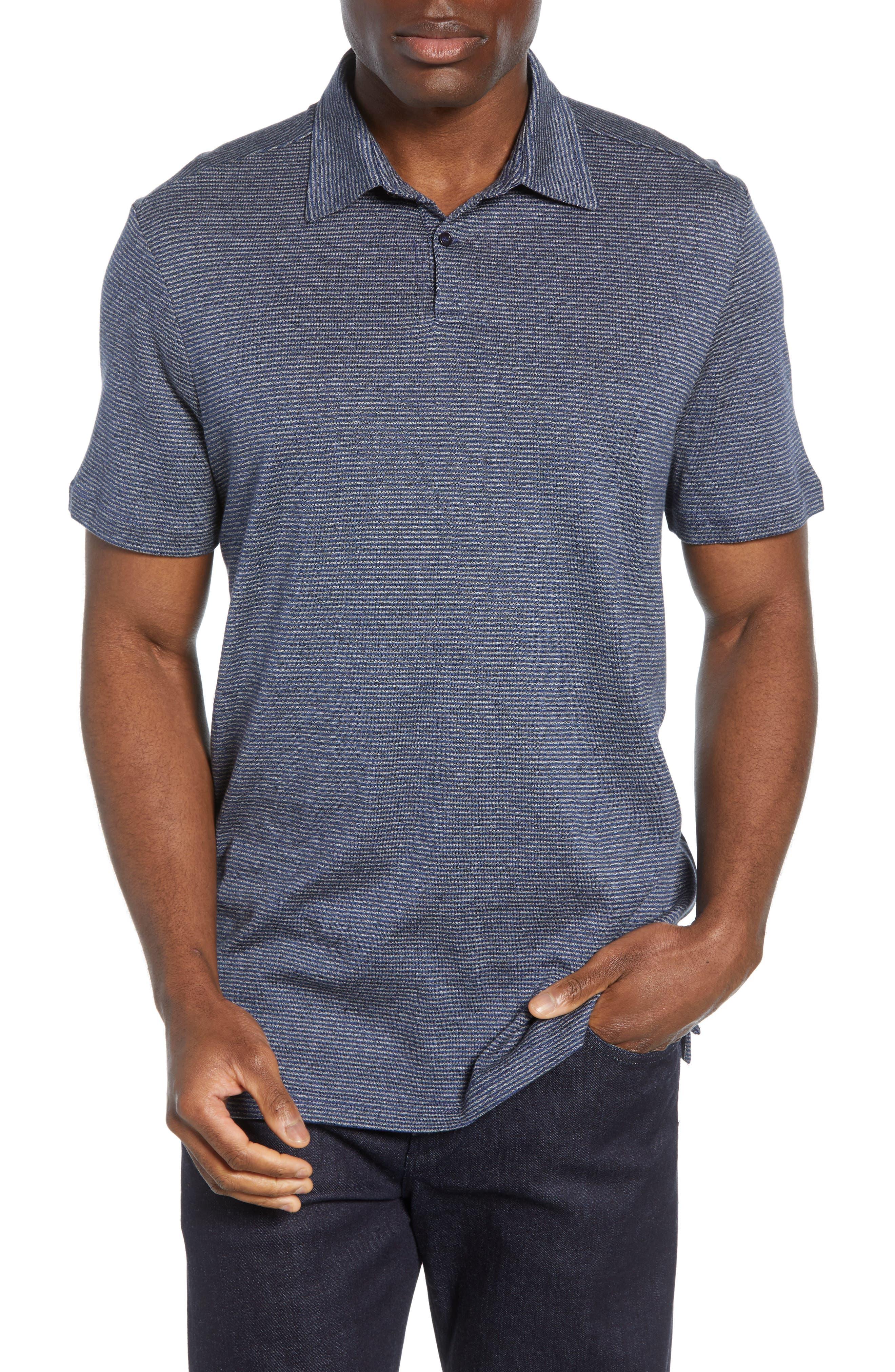 Nordstrom Signature Stripe Cotton & Linen Polo Shirt