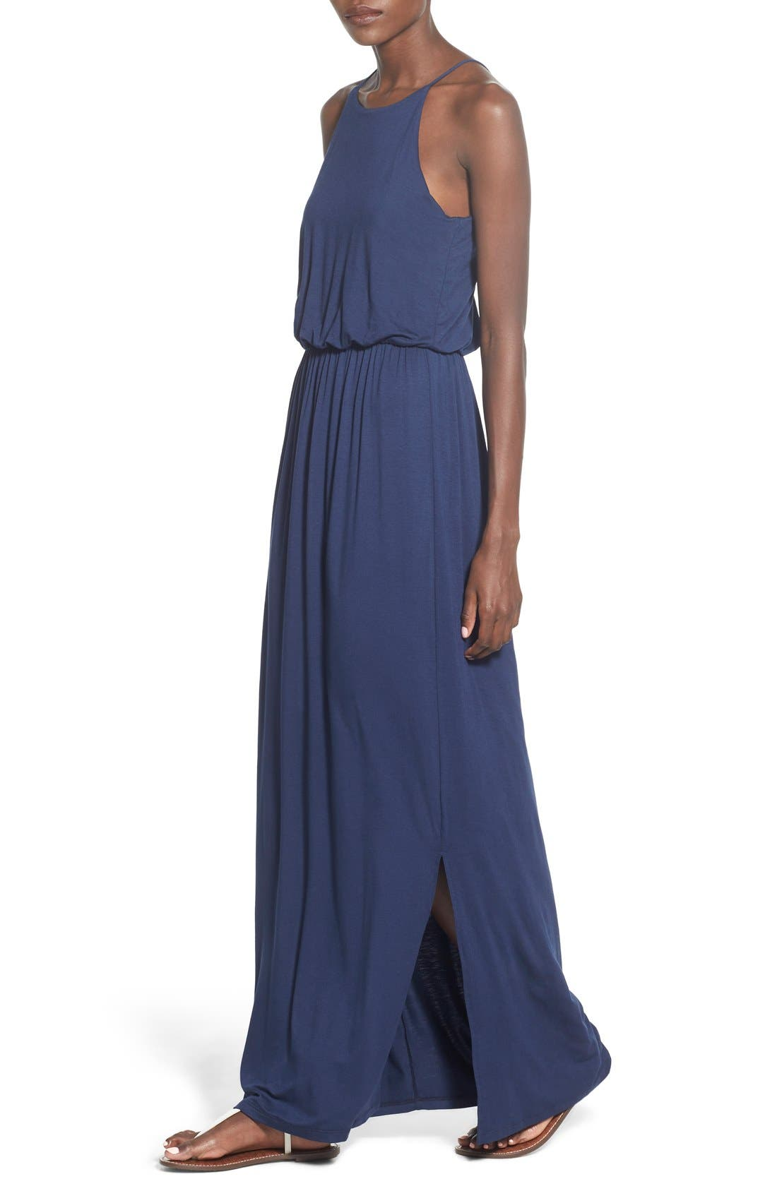 ,                             High Neck Maxi Dress,                             Alternate thumbnail 98, color,                             401