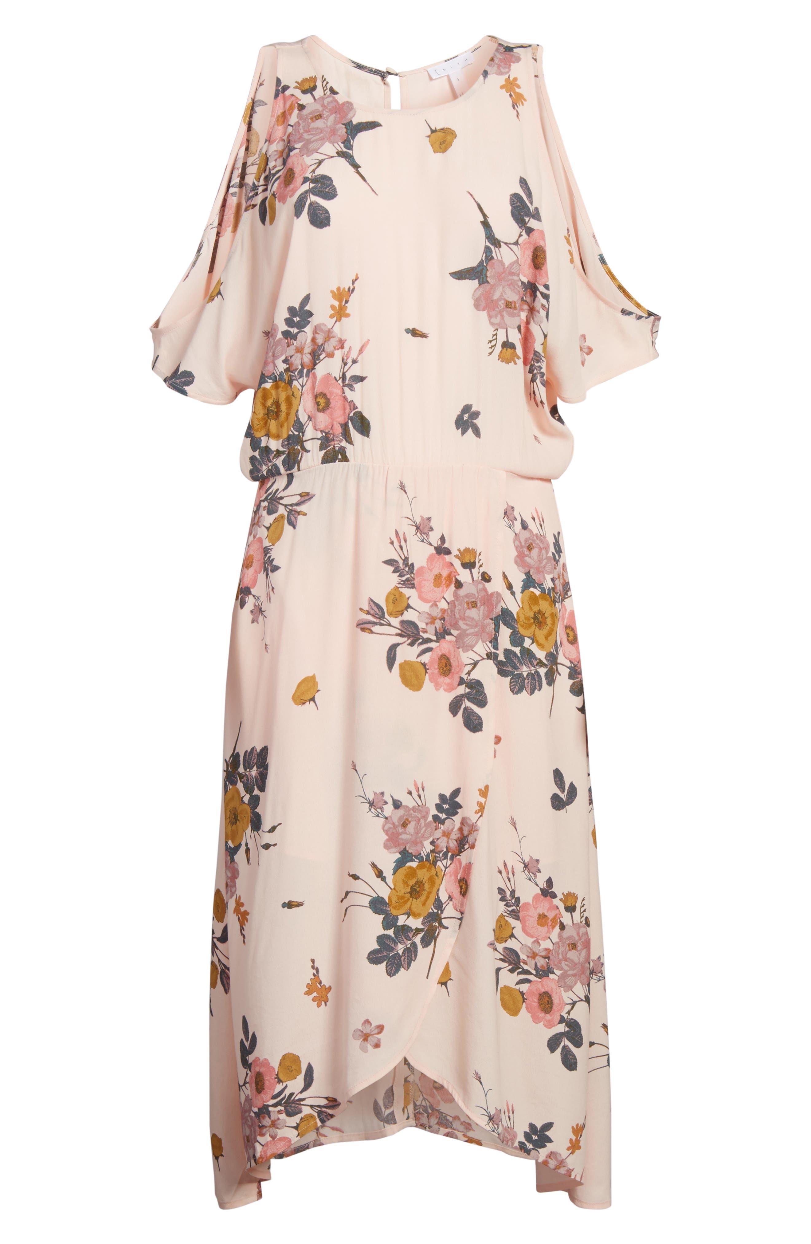 ,                             Cold Shoulder Midi Dress,                             Alternate thumbnail 13, color,                             681