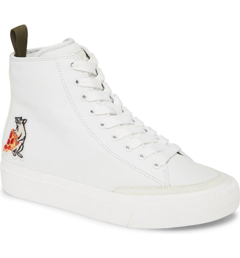 RAG & BONE Pizza Rat High Top Sneaker, Main, color, WHITE MULTI