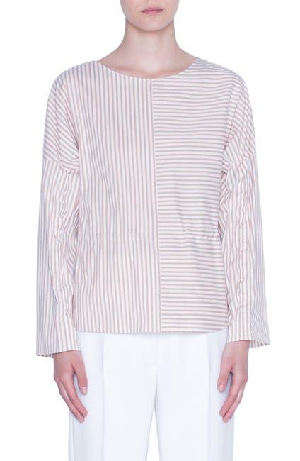 Image of Akris punto Cotton Long Sleeve Blouse