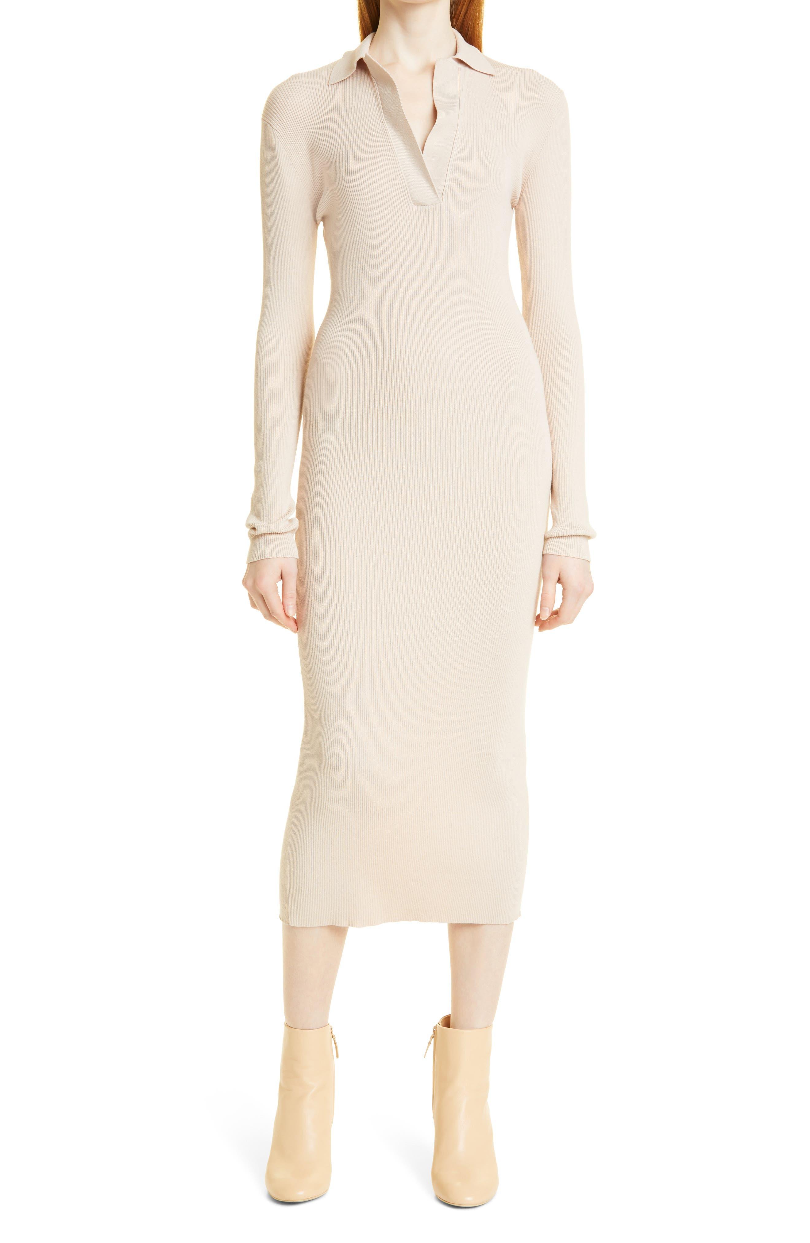 Sandbar Long Sleeve Polo Dress