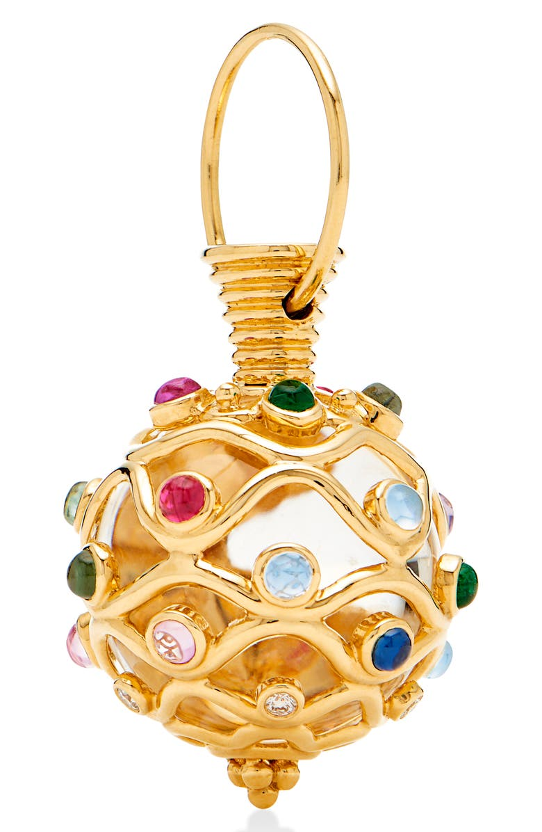 TEMPLE ST. CLAIR Theodora Rock Crystal Amulet, Main, color, MIXSET/ YELLOW GOLD