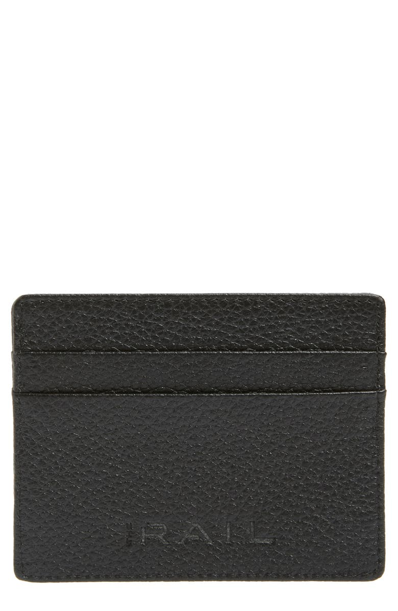 THE RAIL Jamie Leather Card Case, Main, color, 001