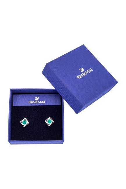 Image of Swarovski Palace Rhodium Plated Swarovski Crystal Stud Earrings