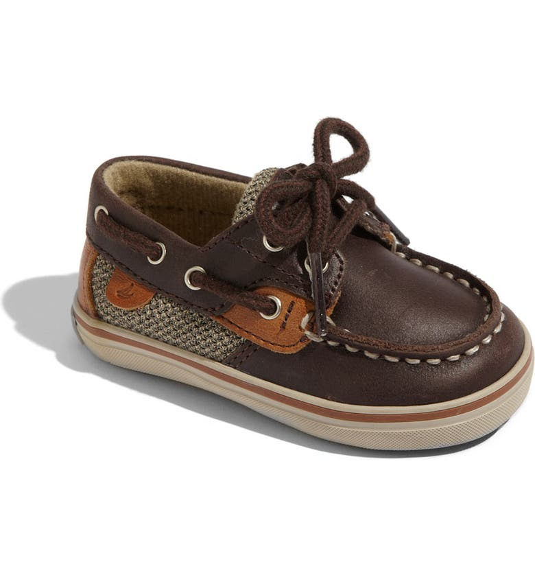 SPERRY KIDS Sperry Top-Sider<sup>®</sup> 'Bluefish' Crib Shoe, Main, color, 200