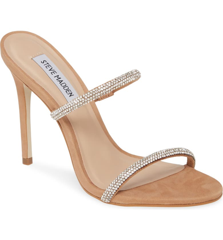 STEVE MADDEN Mina Slide Sandal, Main, color, CAMEL MULTI