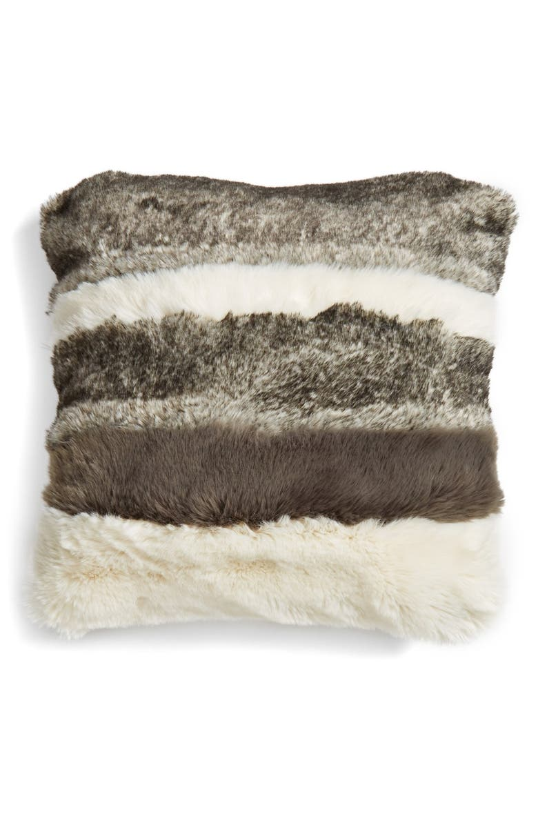 NORDSTROM AT HOME Faux Fur Pillow, Main, color, 900
