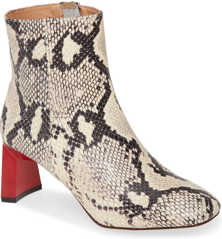 JAGGAR Flair Bootie, Main, color, GREY SNAKE PRINT