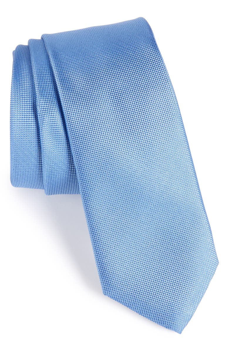 NORDSTROM MEN'S SHOP Foley Silk Tie, Main, color, MEDIUM BLUE