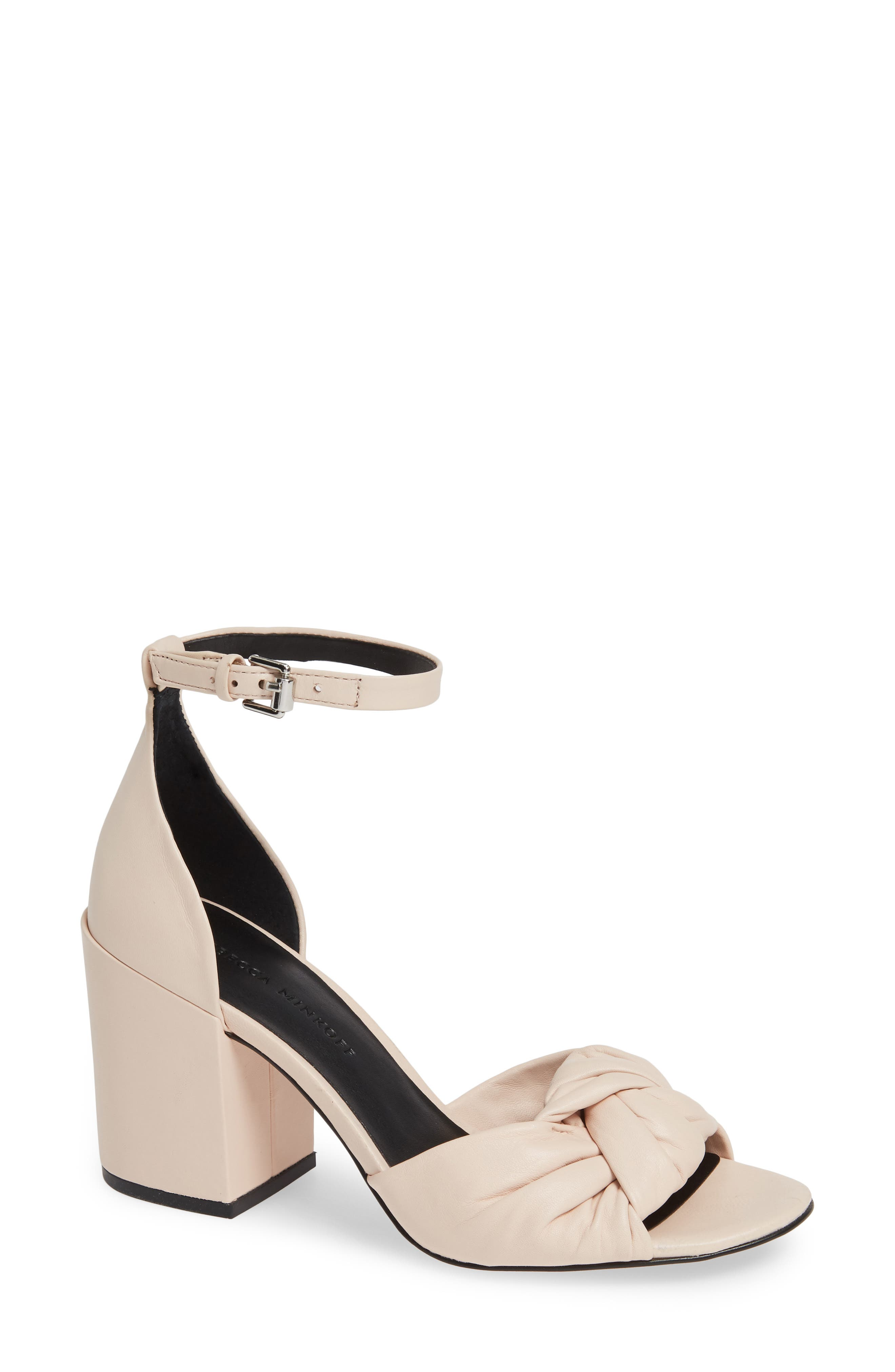 Rebecca Minkoff Capriana Ankle Strap Sandal- Ivory