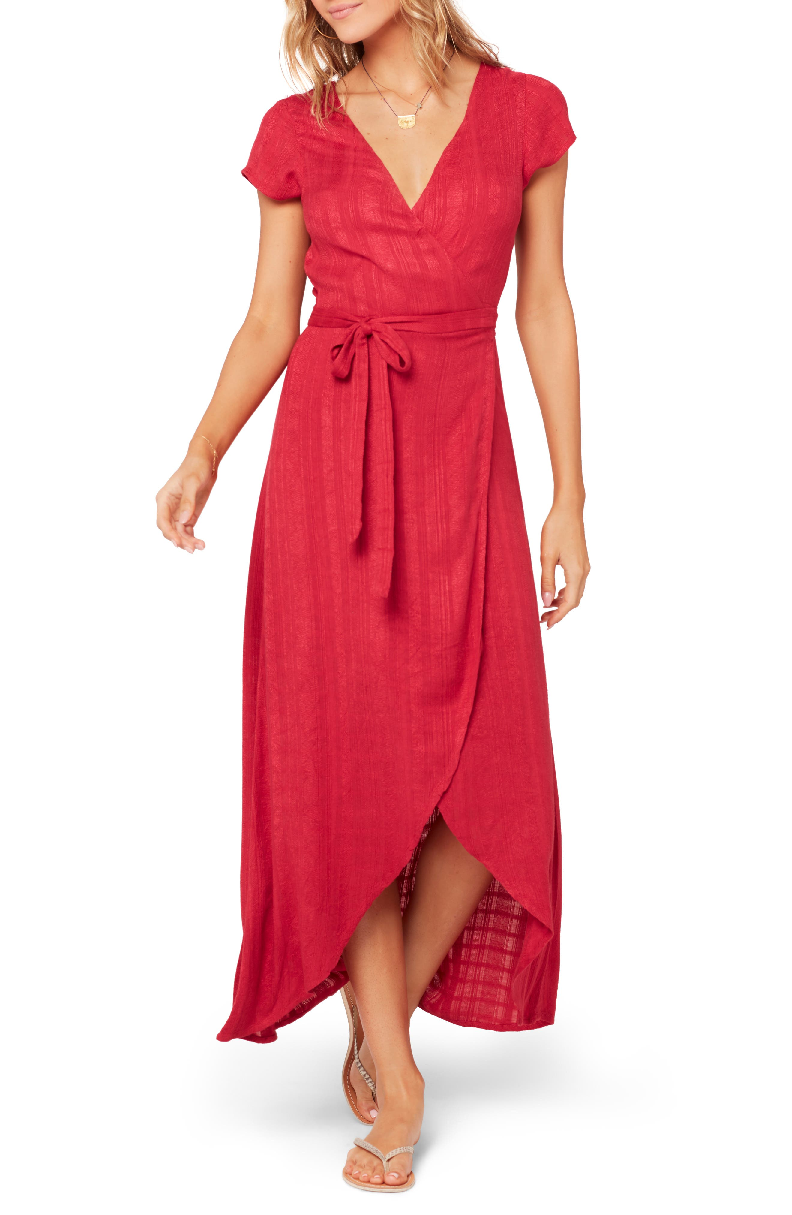 L Space Goa Cover-Up Maxi Wrap Dress