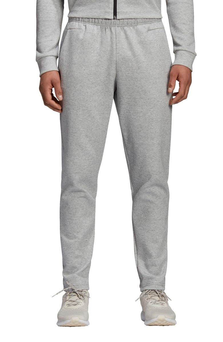 ADIDAS ID Stadium Slim Fit Knit Pants, Main, color, STADIUM HTR/ GREY