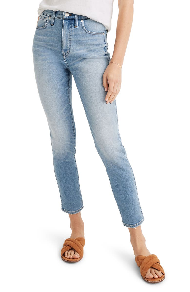 MADEWELL 10-Inch High Waist Crop Skinny Jeans, Main, color, HORNE WASH