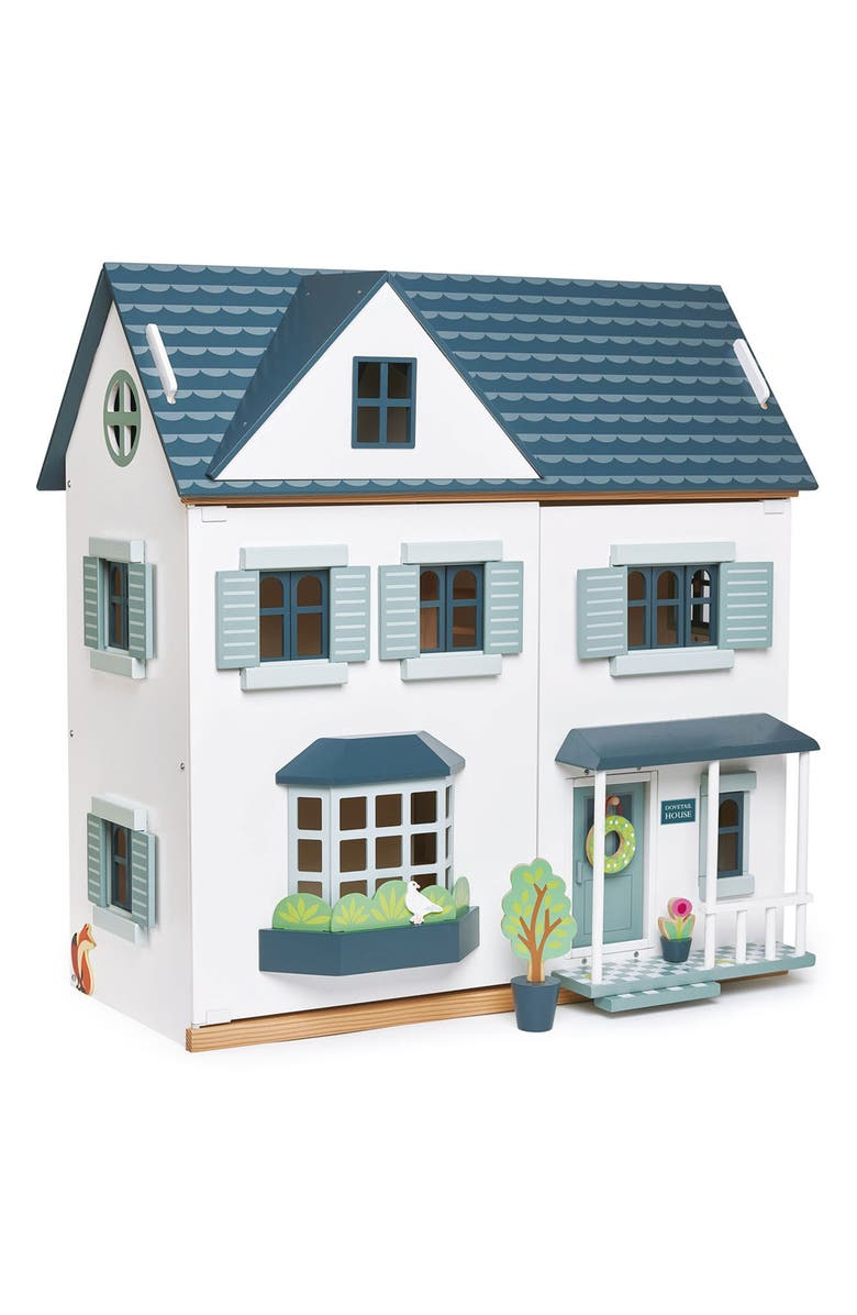 TENDER LEAF TOYS Dovetail Wooden Dollhouse, Main, color, WHITE