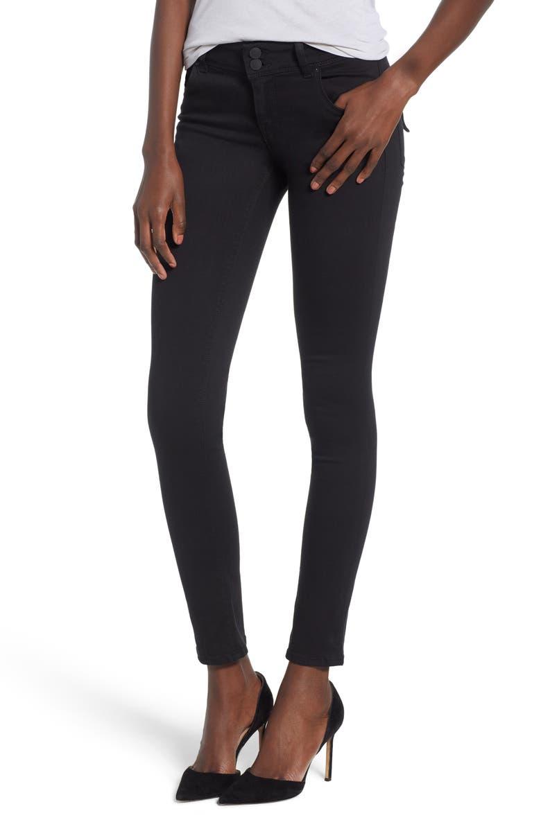 HUDSON JEANS Collin Skinny Jeans, Main, color, BLACK