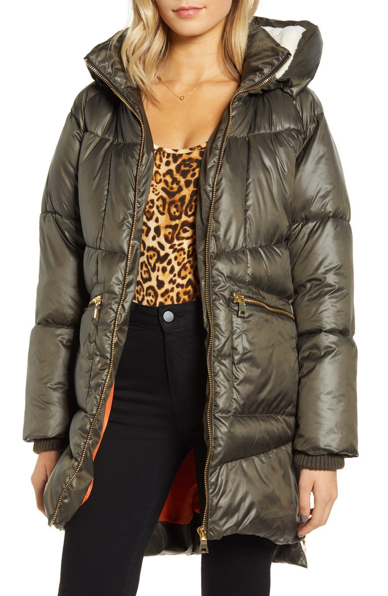 Faux Fur Lined Hooded Puffer Jacket