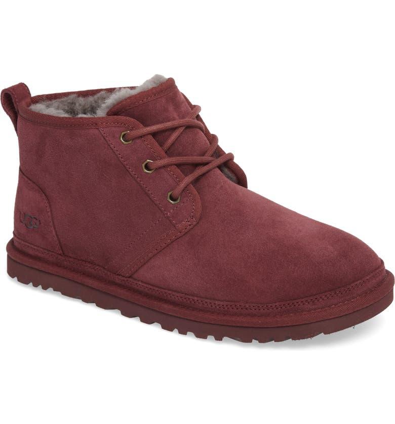 UGG<SUP>®</SUP> Neumel Chukka Boot, Main, color, CORDOVAN LEATHER