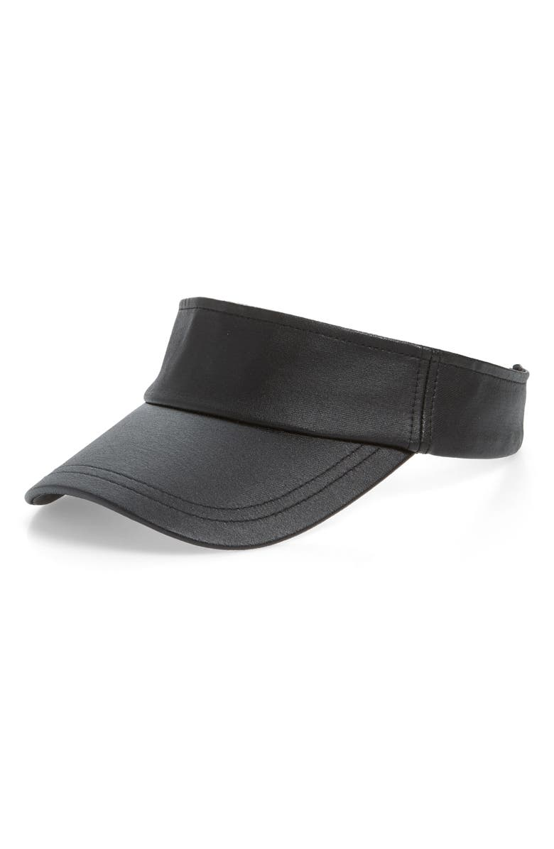 SWEAT ACTIVE Waxed Tennis Visor, Main, color, BLACK